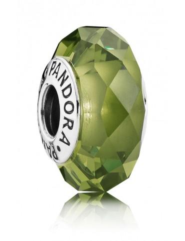 Charm Pandora Plata Cristal Facetado Verde Oliva 791729NLG