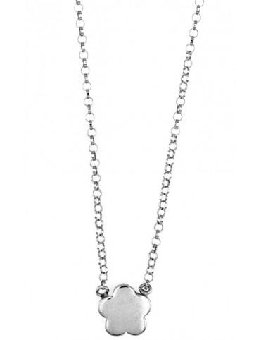 Collar Plata Flor niña 023205-1-1