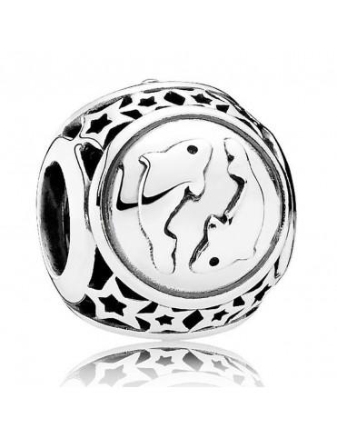 Charm Pandora plata Signo Piscis con estrellas 791935