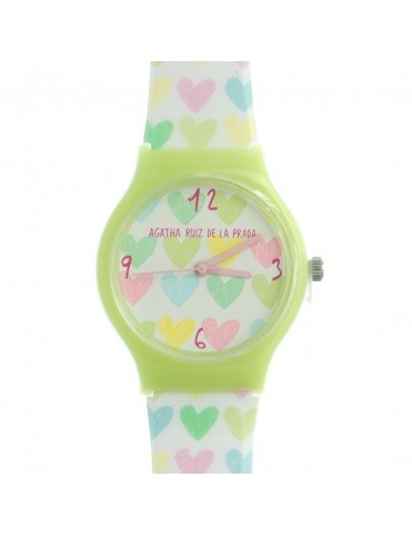 Reloj Agatha Ruiz de la Prada Niña Green Hearts Watch Small AGR158