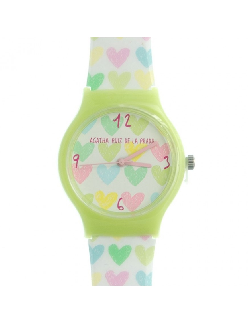 Reloj Agatha Ruiz de la Prada Niña Green Hearts Watch Small AGR158