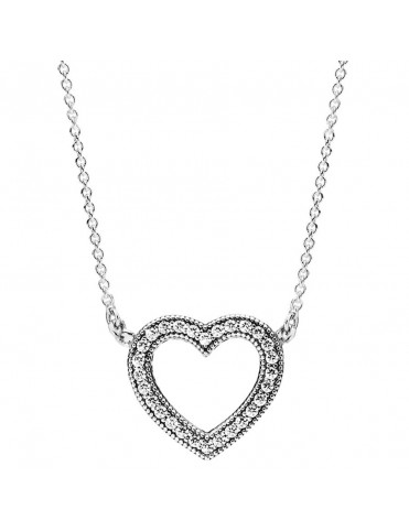 Collar Pandora Plata Corazón Amado 590534CZ-45