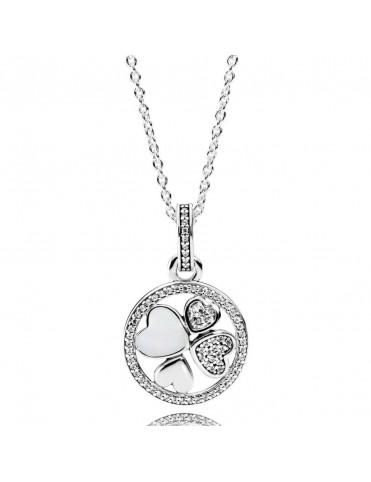 Collar Pandora Plata Corazones de Amor 390405CZ-70