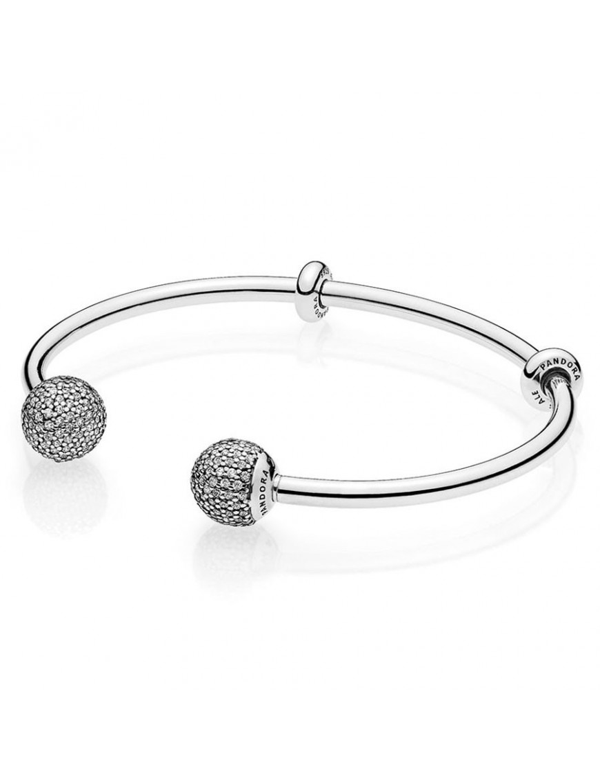 Pulsera Pandora Plata Open Bangle 596438CZ-2