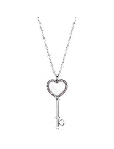 Collar Pandora Plata Locket llave corazón+ 2 petites 396584FPC-80&7965698&793668