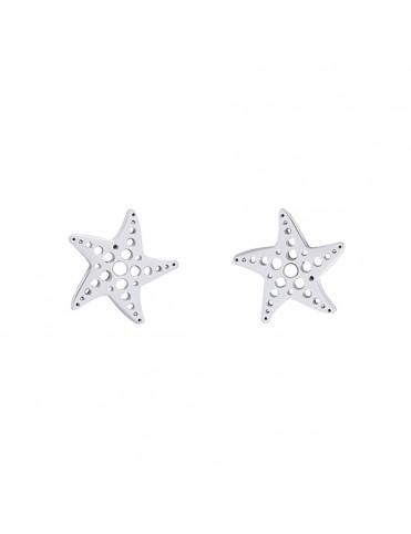 Pendientes Anartxy Acero Mujer APE827PL Estrella de mar