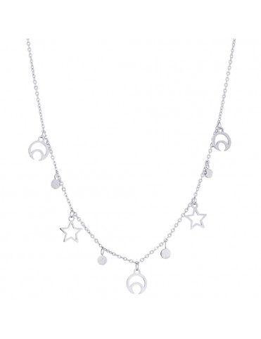 Collar Anartxy Acero Mujer COA519PT Estrellas y lunas