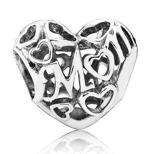 Abalorio Pandora corazón Mom 791519