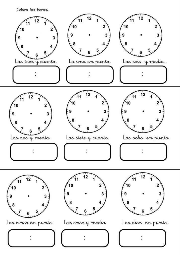Aprende las horas | Marjoya.com