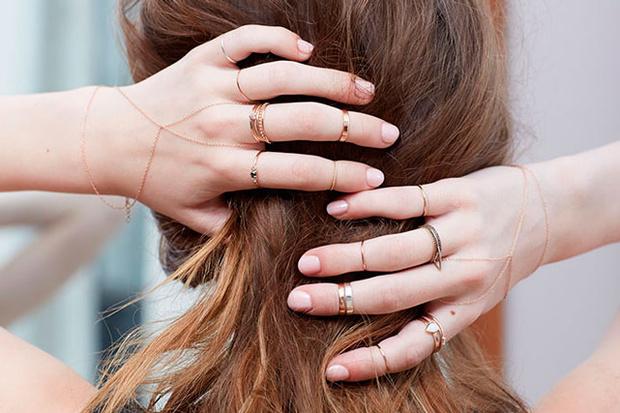 Anillos en dedos pequeños