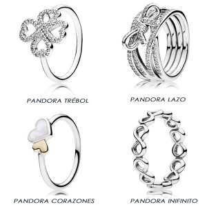anillos pandora acero