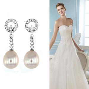 e516cd9bb663 joyas-novia-pendientes. Pendientes para escotes abiertos