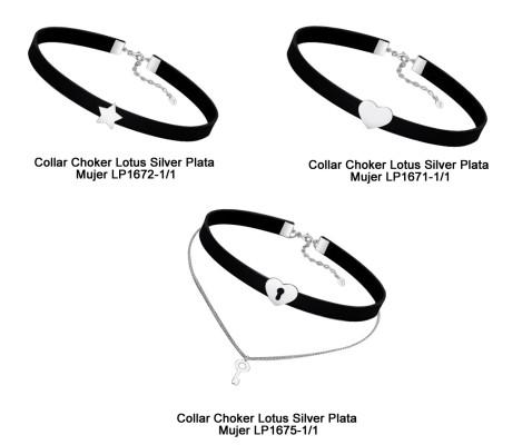Collares Choker de Lotus Silver