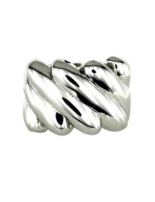 Anillo plata mujer PL33983-S/BL