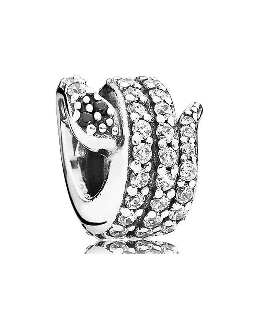 Abalorio Pandora plata Serpiente Centelleante 791539CZ