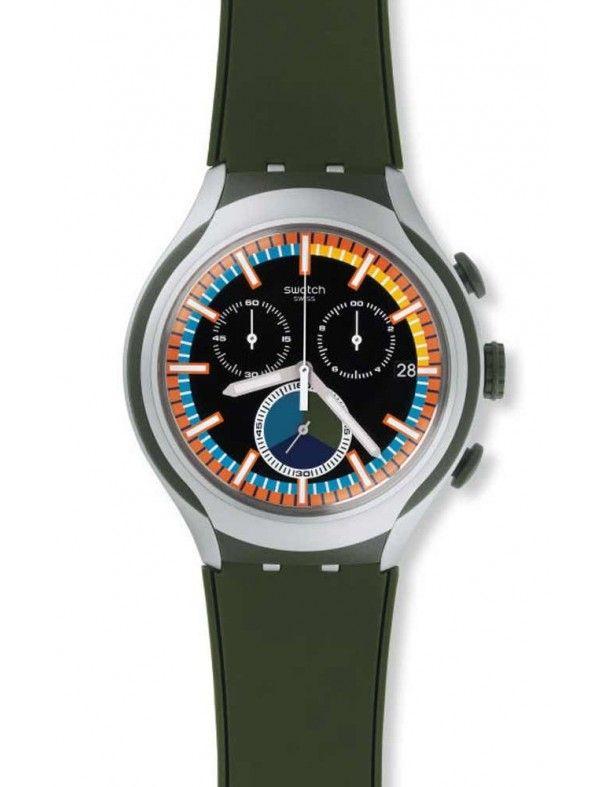 Ficticio Deformación yeso  Reloj Swatch Moos hombre YYS4009. Colección Irony Xlite. Función cronógrafo