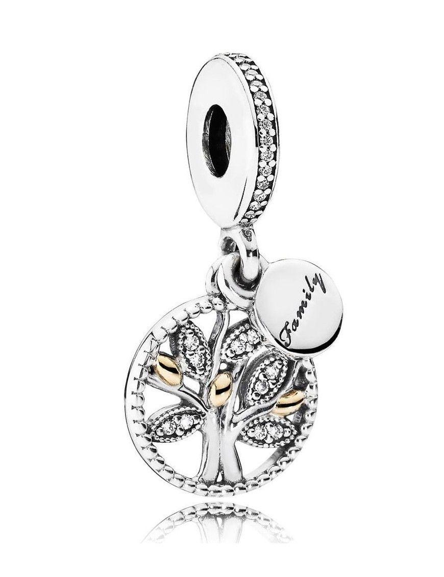 Abalorio Pandora plata oro y circonitas 791728CZ