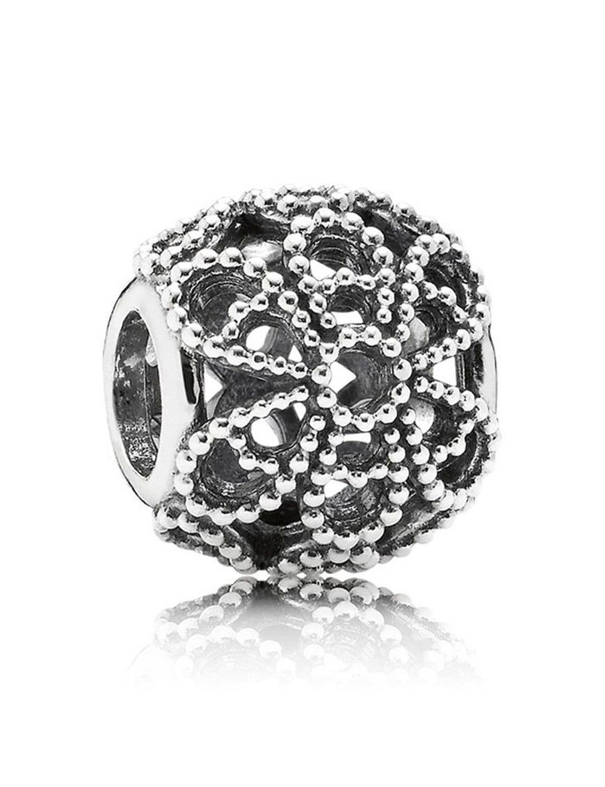 Charm Pandora plata Calado Rosas 791282