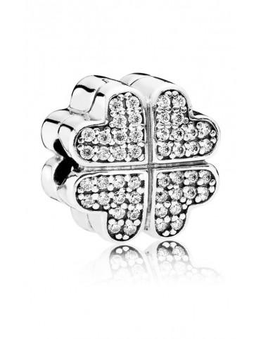 Comprar Charm Clip Pandora plata y circonitas Pétalos de Amor 791805CZ online