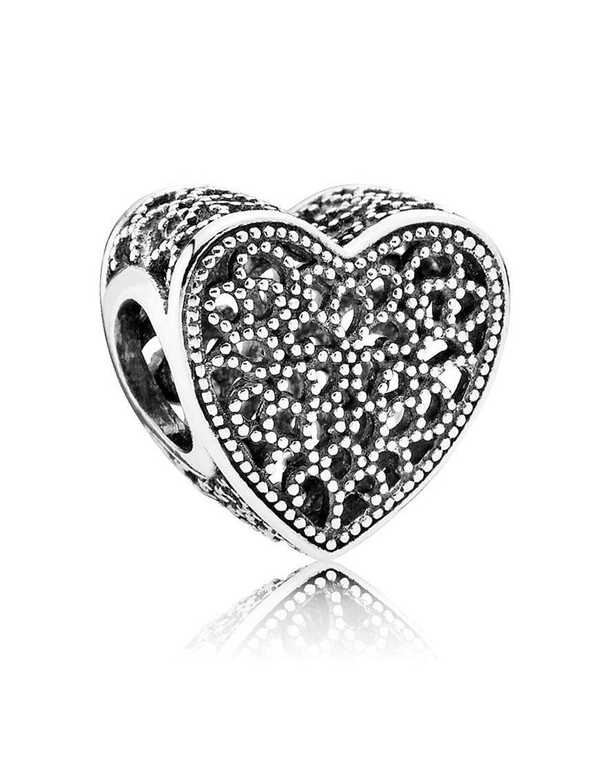 Charm Pandora plata corazón 791811