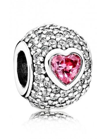 Comprar Charm Pandora plata y circonitas Corazón Cautivo 791815CZS online