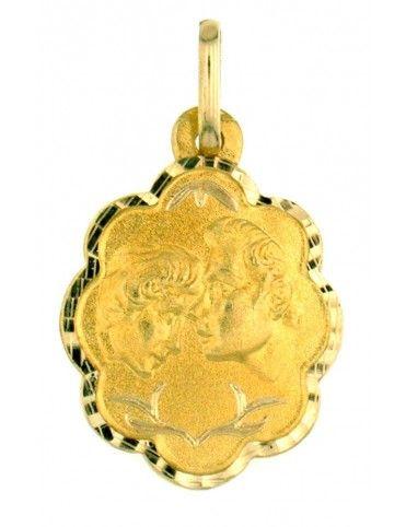 Medalla Enamorados Oro 18Kts 2116