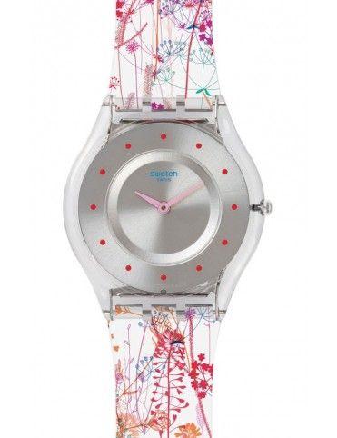 Reloj Swatch mujer jardin fleuri SFE102