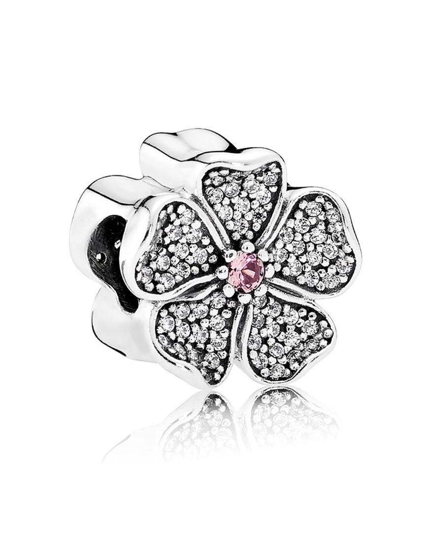 Charm Pandora plata y circonitas Flor de Manzano 791831NBP