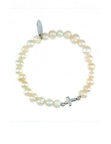 Pulsera Plata y perlas niña 043202-1-1