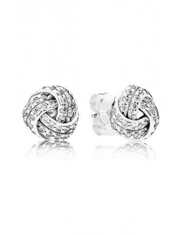 Comprar Pendientes Pandora plata Brillante Nudo de Amor 290696CZ online