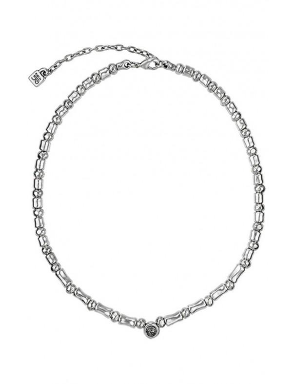 Collar Uno de 50 metal mujer Acristalada COL1037GRSMTL0U