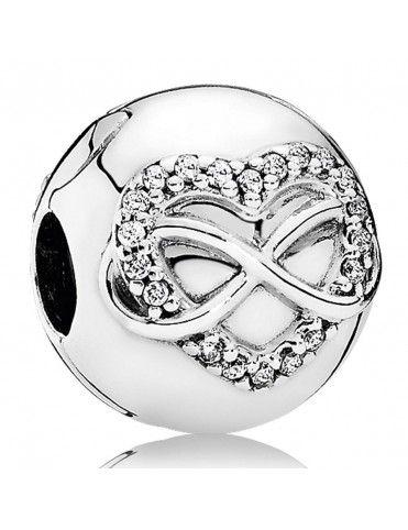 Comprar Charm Clip Pandora plata Corazón Infinito 791947CZ online