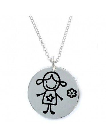 Collar plata Mujer Niña 9093505&CHAIN