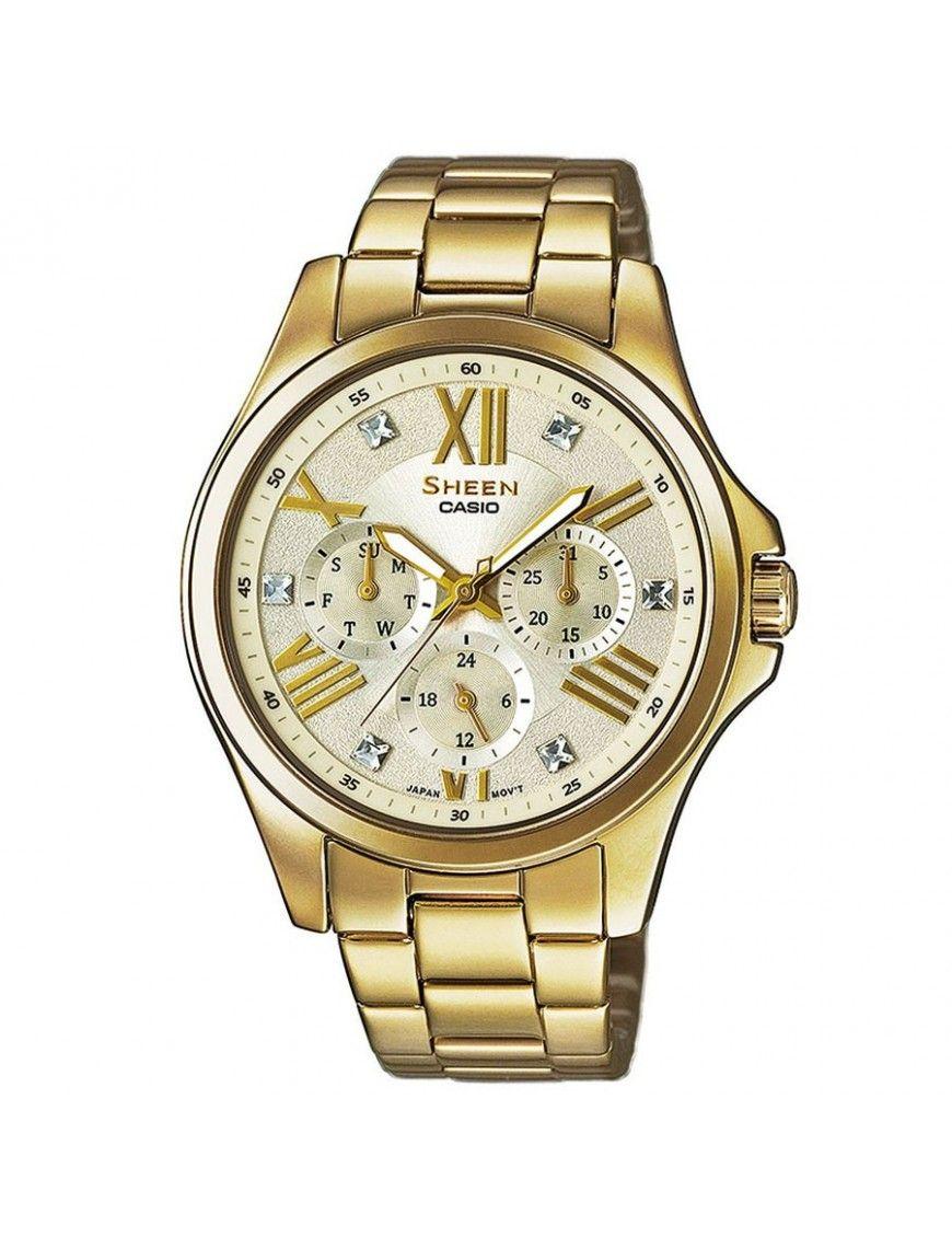 Reloj Casio Sheen Mujer multifunción SHE-3806GD-9AUER