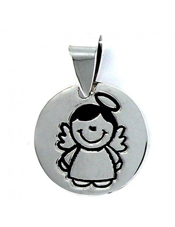 Collar Plata Mujer Ángel Cuídame 9088114