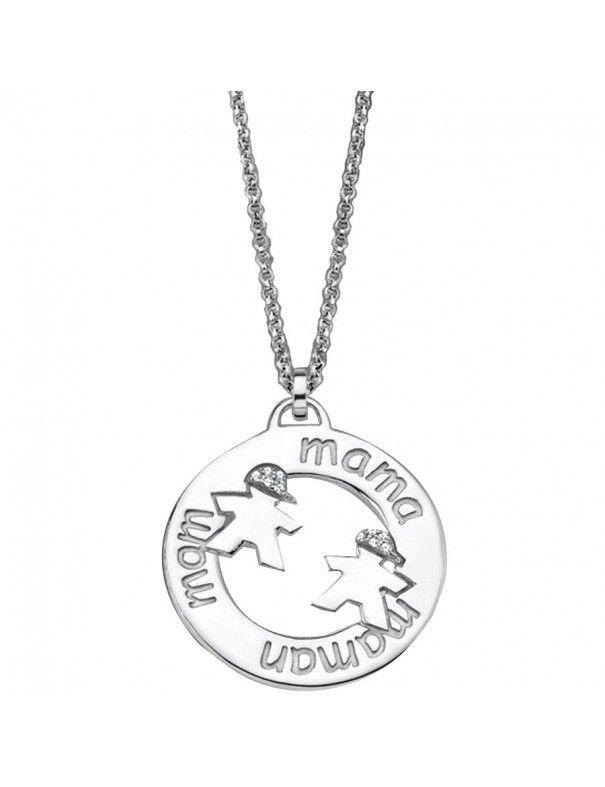 Collar Lotus Silver Plata Mujer LP1582-1/2