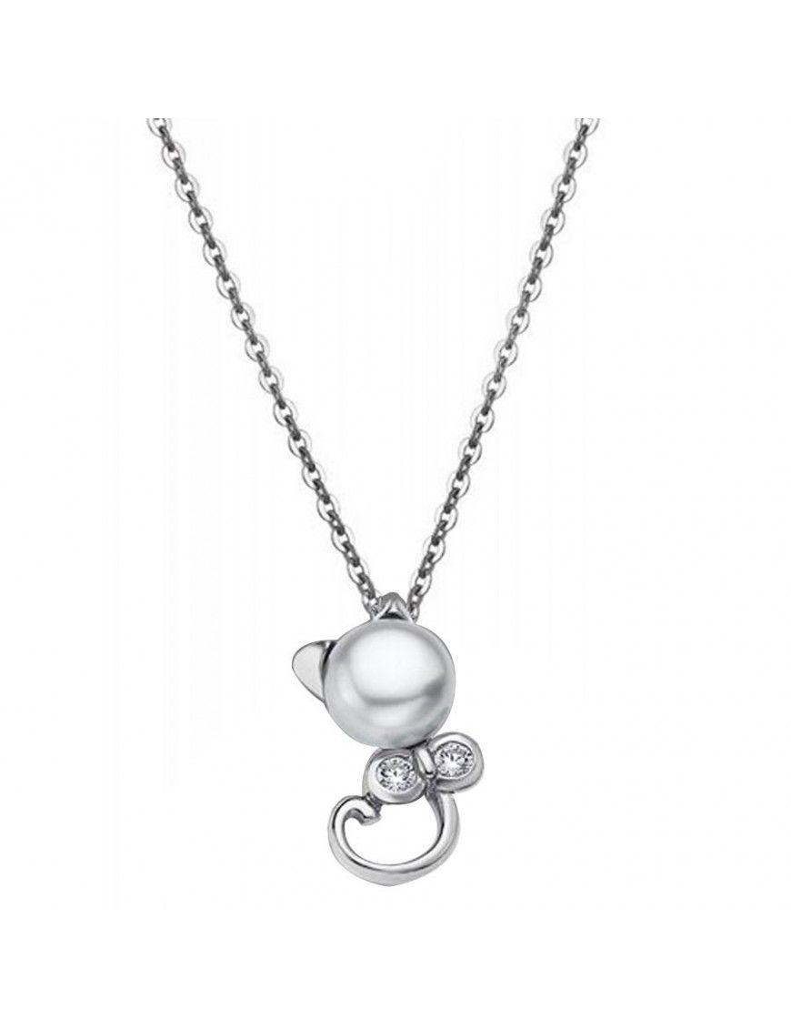 Collar Lotus Silver Plata Mujer LP1591-1/1