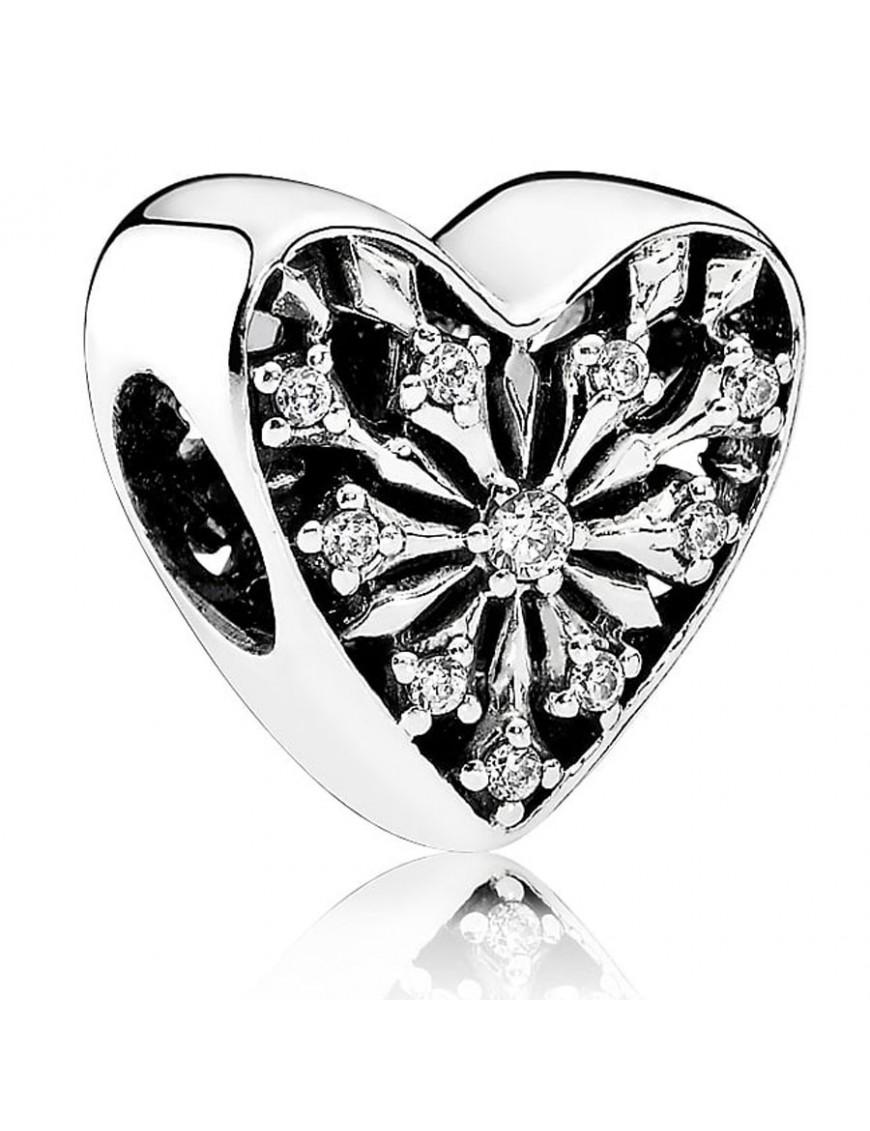 128b89952a0f Charm Pandora Plata Corazón de invierno 791996CZ. Joyas Pandora