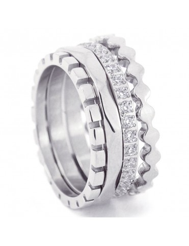 Anillo Anartxy Acero Mujer AAN212