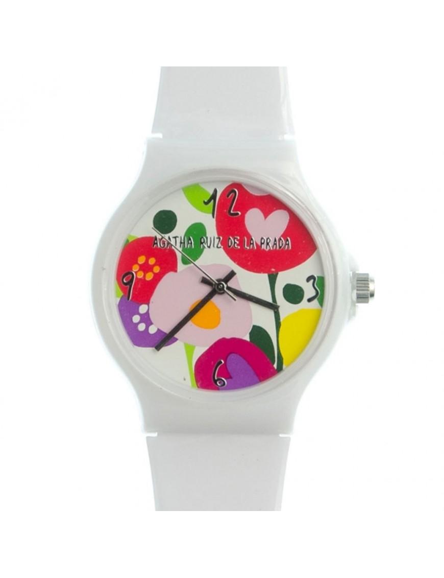 Reloj Agatha Ruiz de la Prada Mujer White Flower Big Watch AGR173