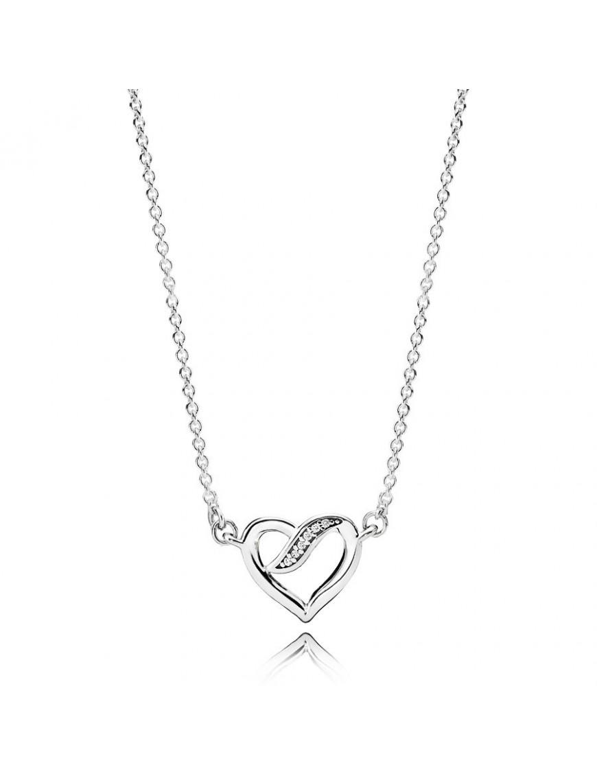 Collar Pandora Plata Lazos de Amor 590535CZ-45