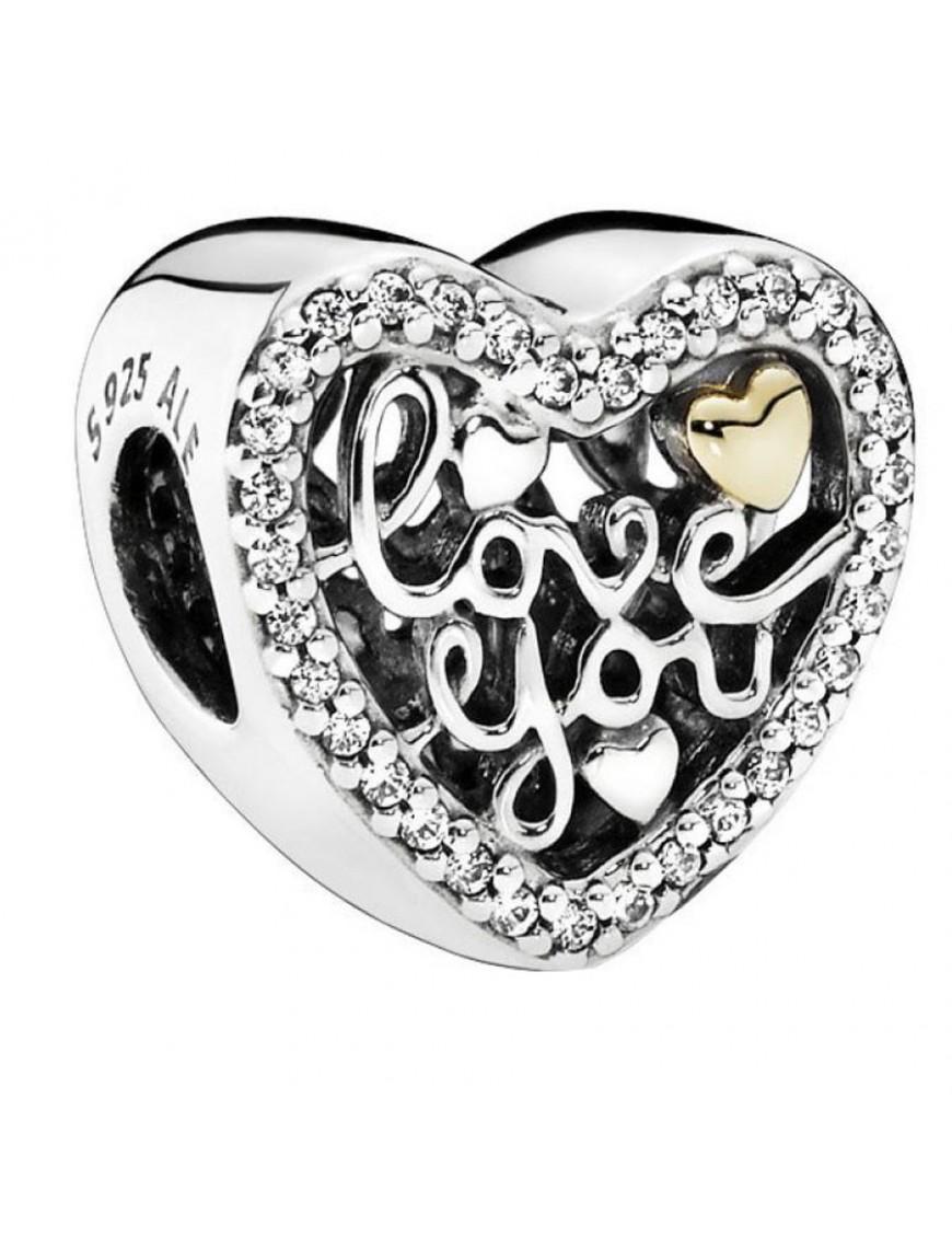 Charm Pandora Plata Amor Grabado 792037CZ