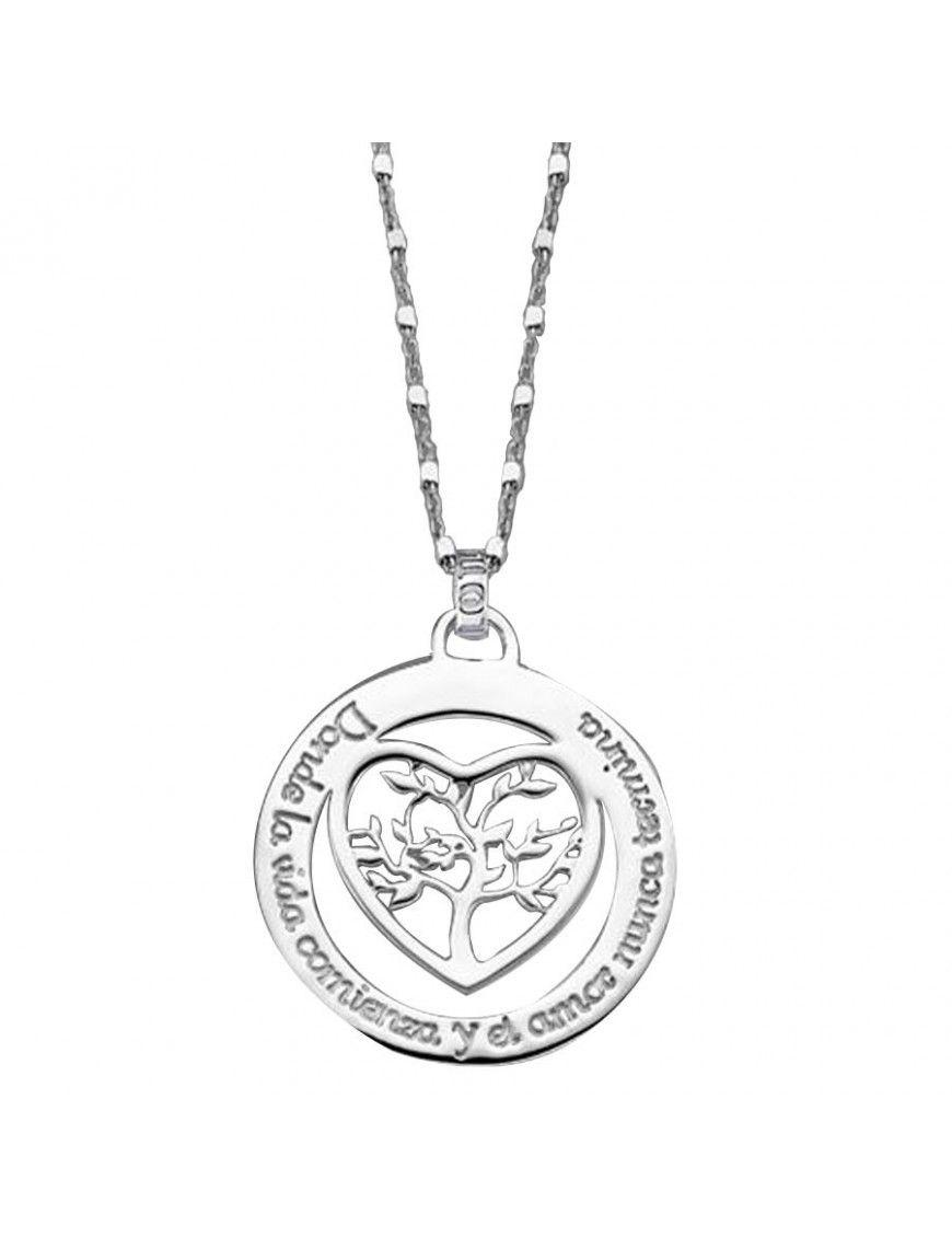 Collar Lotus Silver Plata Mujer LP1642-1/1