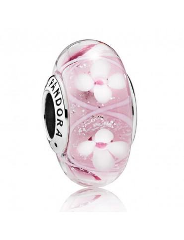 Comprar Charm Pandora Plata Murano Campo de Flores Rosa 791665 online