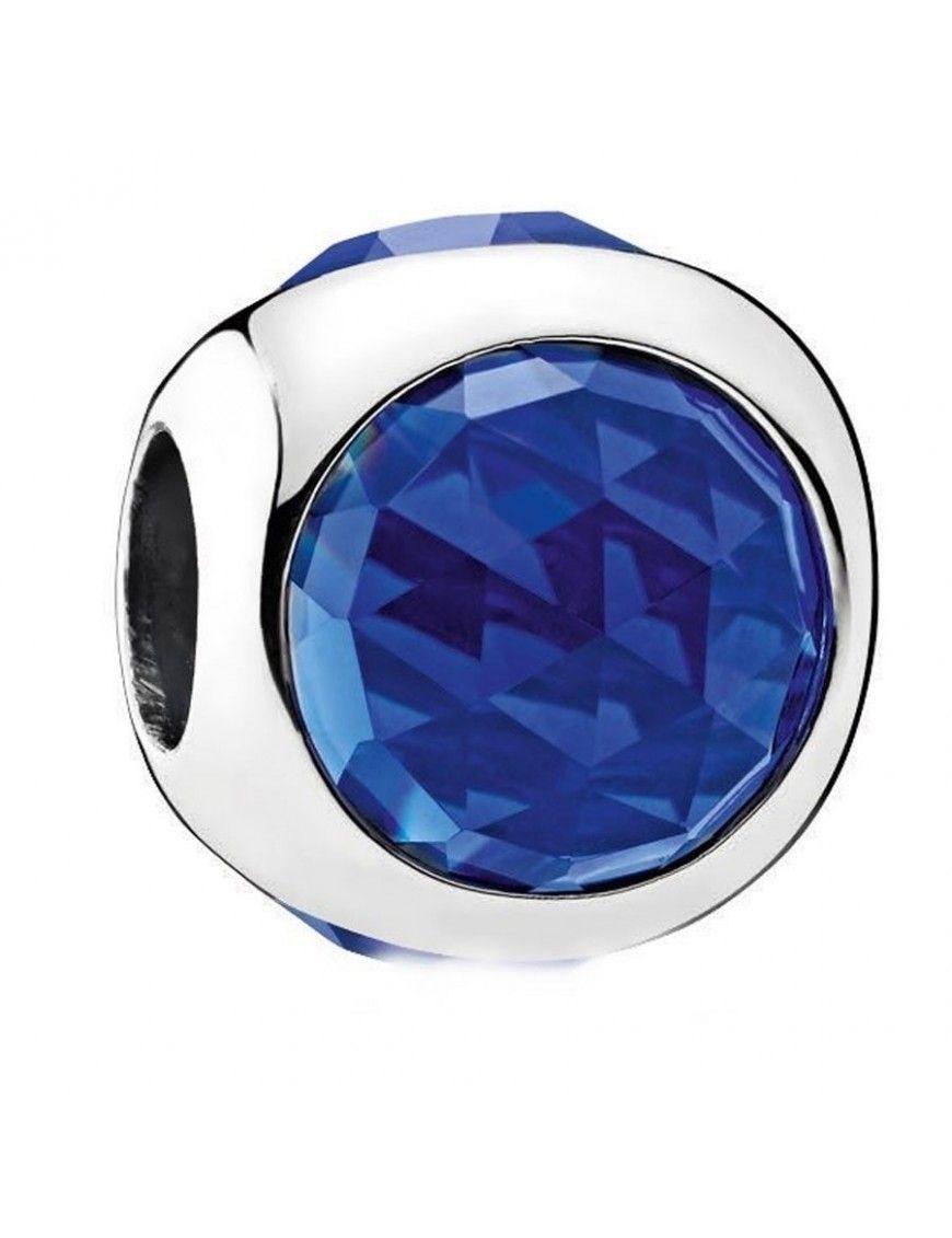 Charm Pandora Plata y circonita Gota Radiante Azul Royal 792095NCB