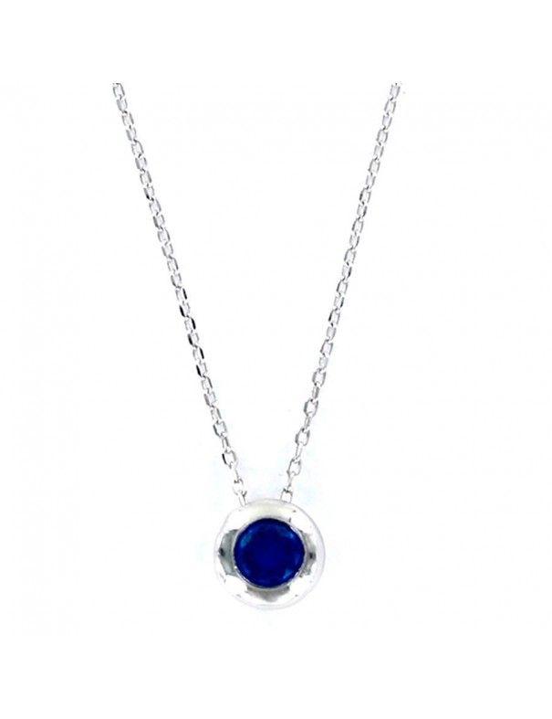 Collar Plata Mujer Chatón Azul 9097680
