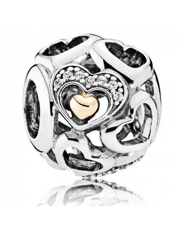 Charm Pandora Plata Corazón de Romance 792108CZ