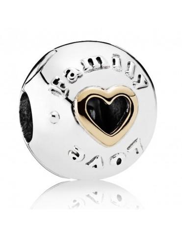Charm Clip Pandora Plata Familia y Amor 792110