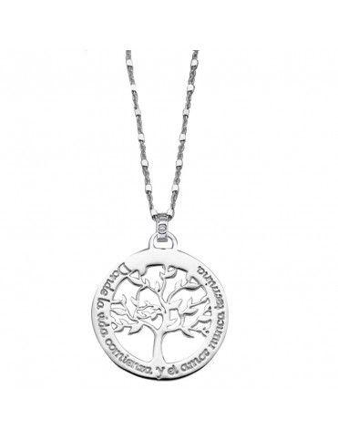 Collar Lotus Silver Plata Mujer LP1641-1/1