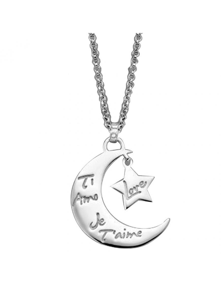 Collar Lotus Silver Plata Mujer LP1645-1/2